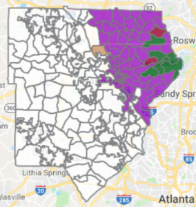 Map Of Georgia 6th Congressional District.6th Congressional District Democratic Runoff Pits Gun Control